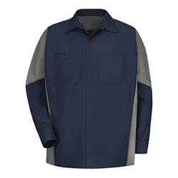 Two-Tone Crew Shirt (LS, Red Kap)