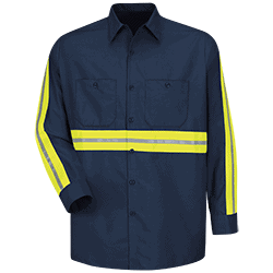 Enhanced Visibility Industrial Work Shirt (LS)