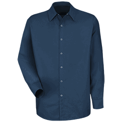 Long-Sleeve Specialized Pocketless Work Shirt