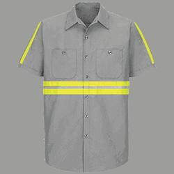 Enhanced Visibility Industrial Work Shirt (SS)